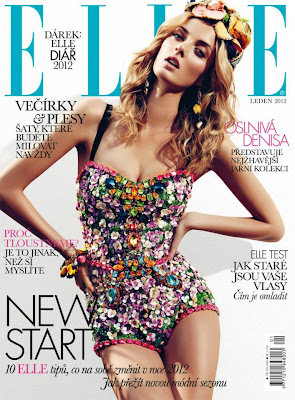 Dolce & Gabbana Fashion Show Collection for Spring Summer 2012 - One Piece Bodices featured on Elle Czech January 2012