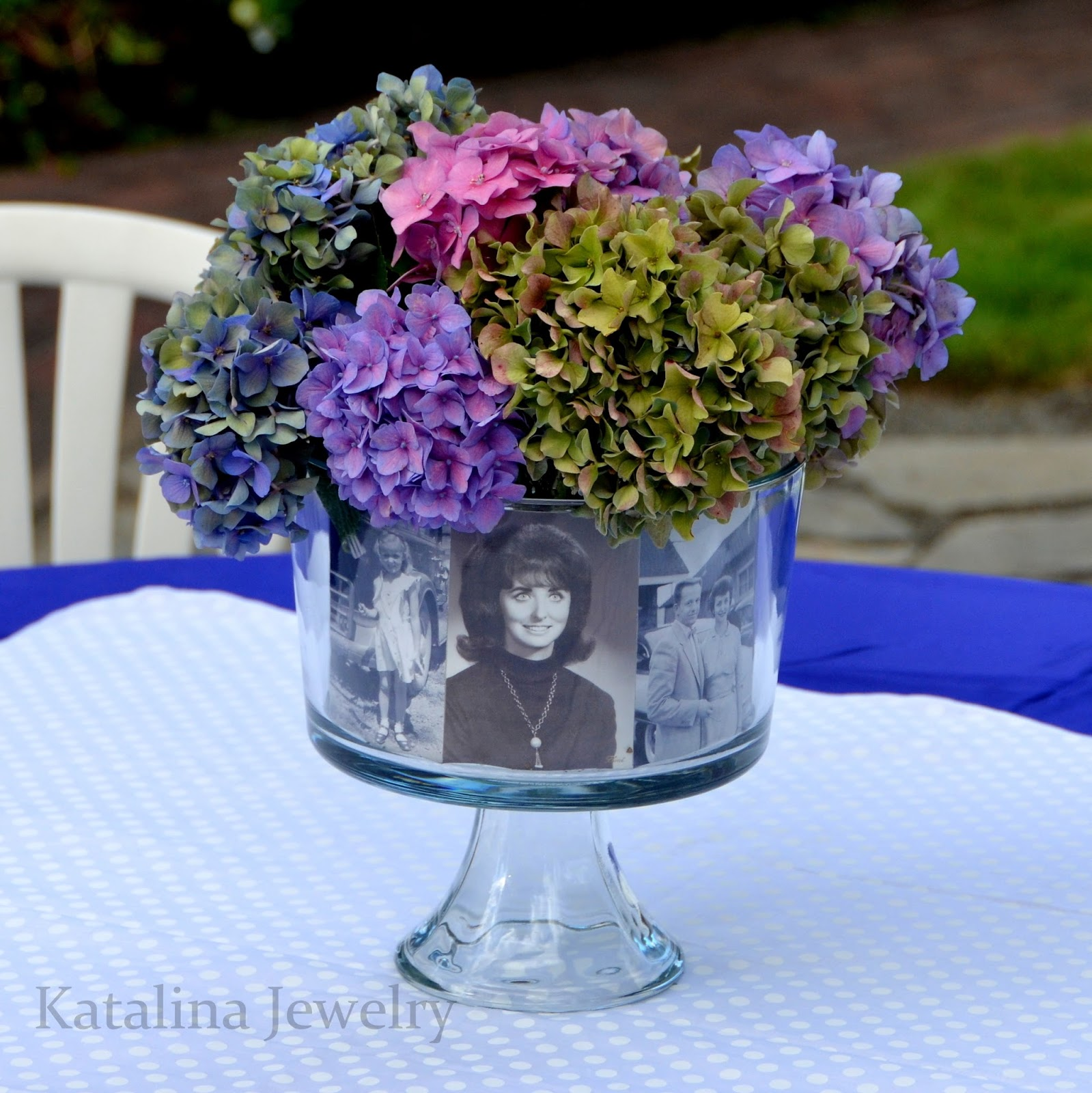 Katalina jewelry easy personalized photo foral centerpiece