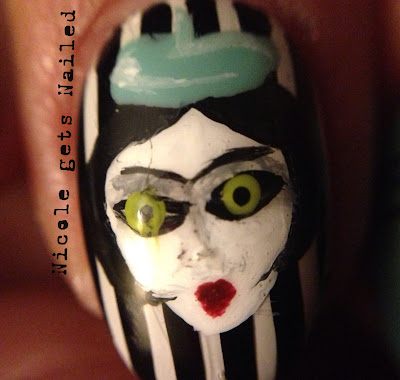 Miss Spider James and the Giant Peach Nail Art
