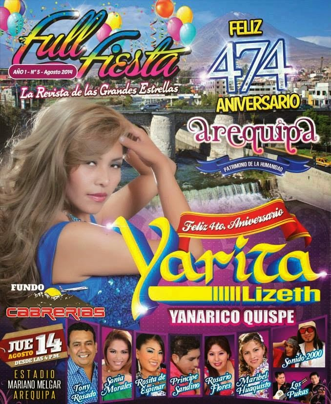 Serenata en el Estadio Melgar con Tony Rosado, Los Pukas, Sonia Morales y muchos más - 14 de agosto