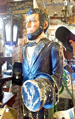 A vintage carved life-sized Abe Lincoln on BinkysNest.com