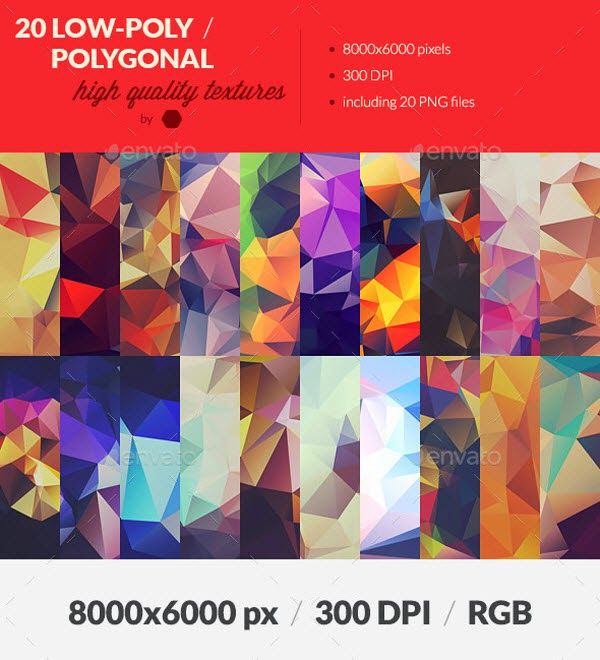 Polygonal Background Textures