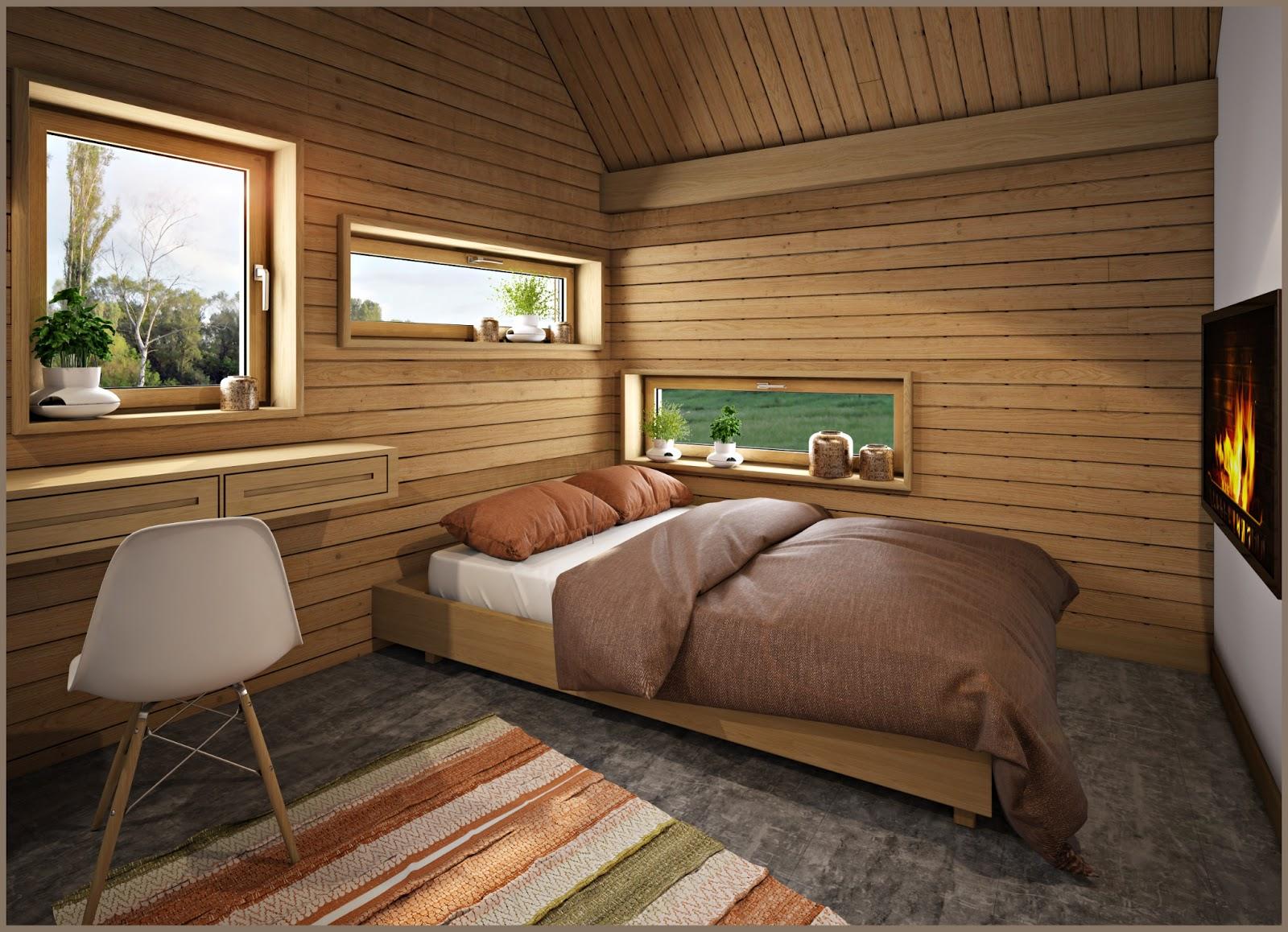 Интерьер небольшой спальни в доме фото