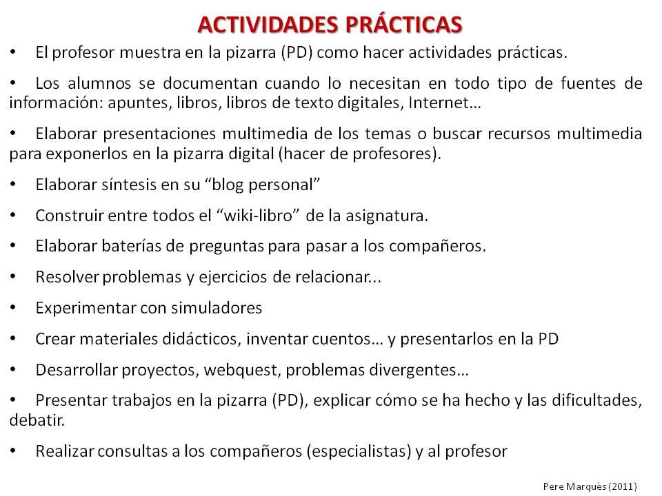CHISPAS TIC Y EDUCACIÓN. Blog Pere Marquès: ¿Qué es el curriculum ...