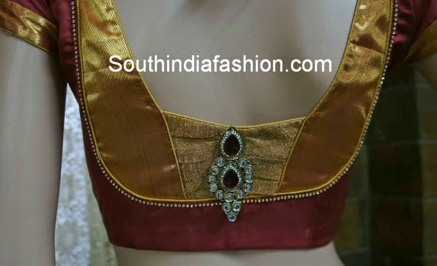 blouse patterns for silk pattu sarees
