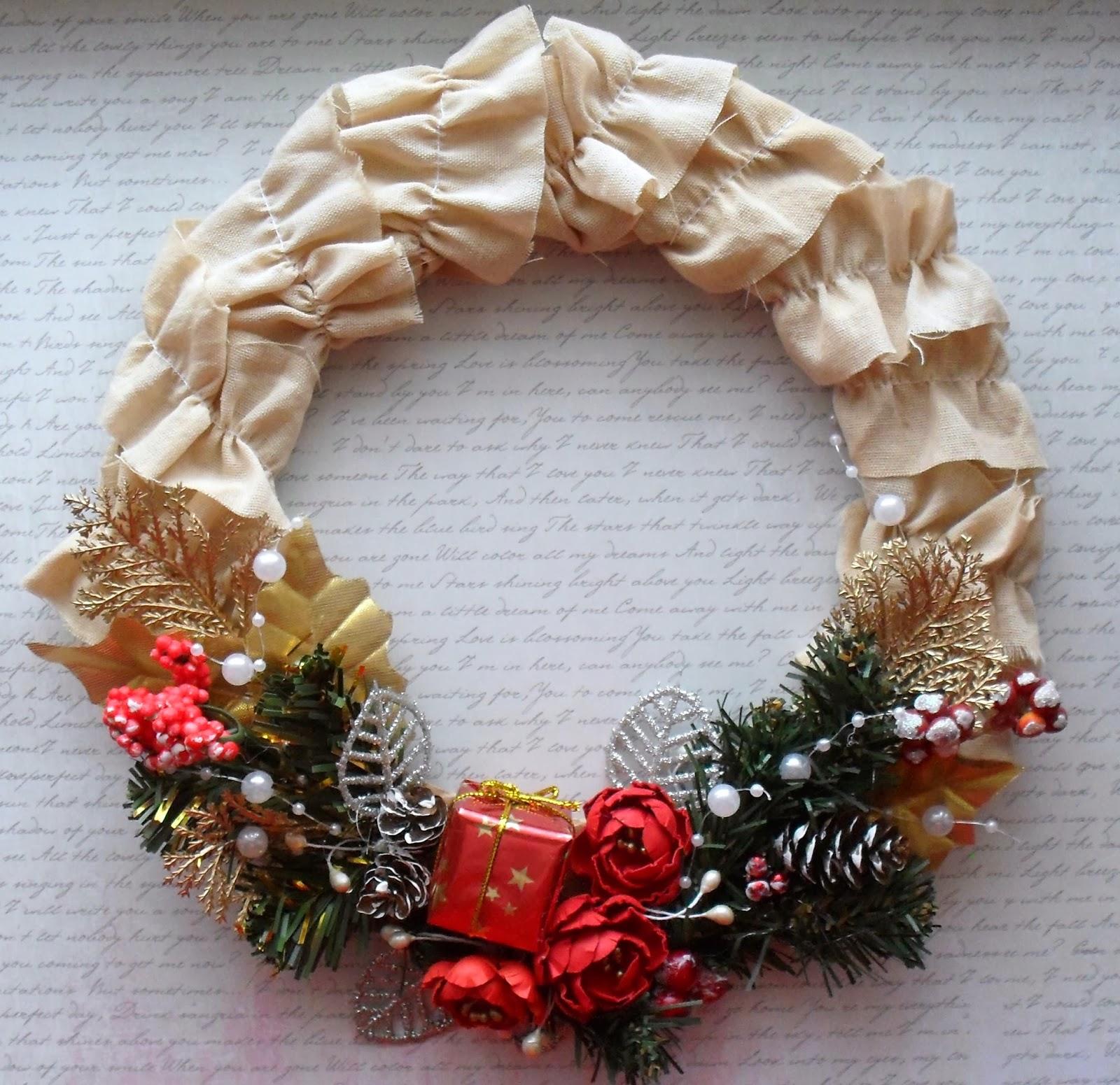 Венок рождественский своими руками поэтапно