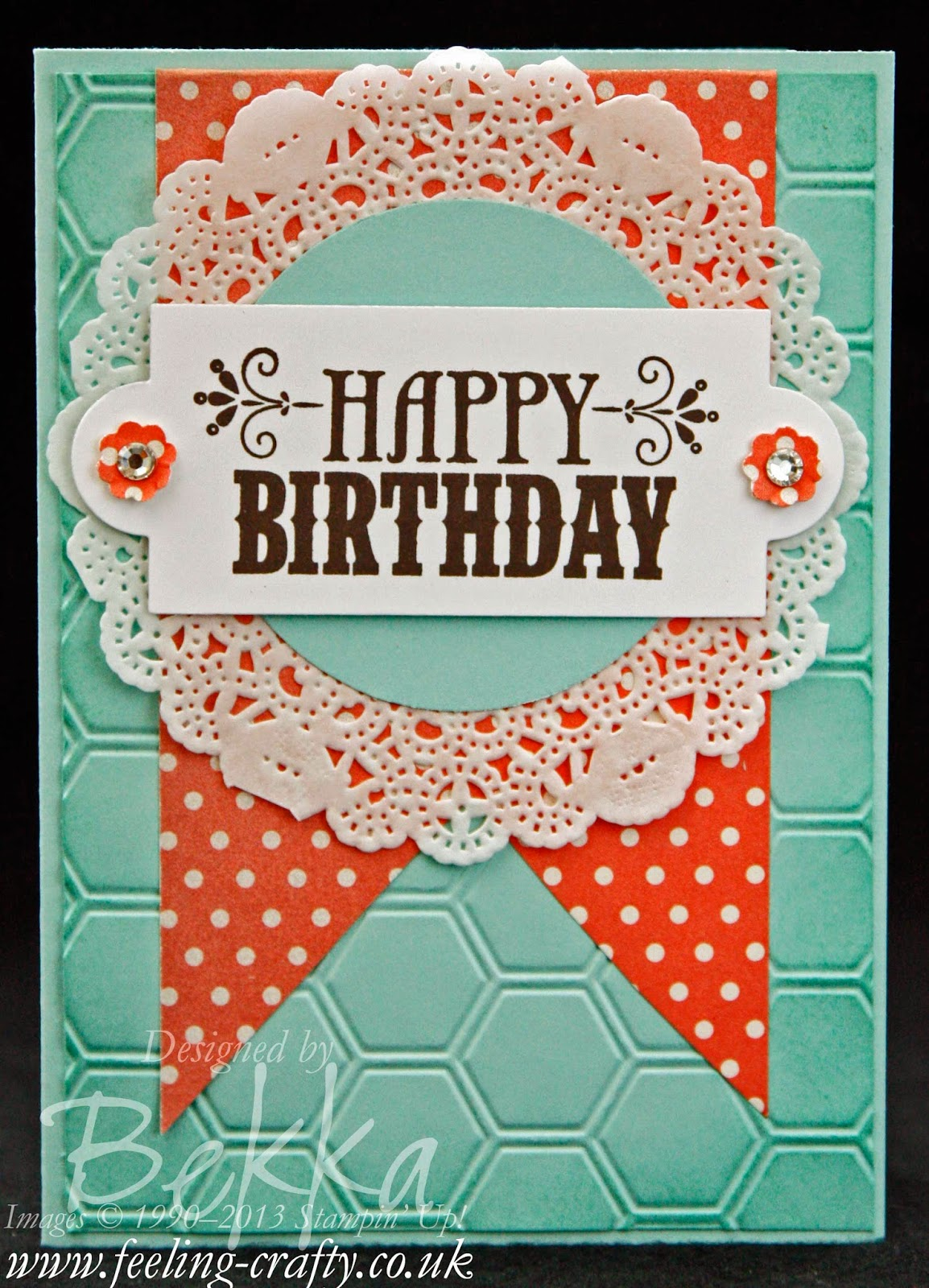 Your Amazing Birthday Card by Stampin' Up! UK Demonstrator Bekka - check out her blog here for lots of ideas