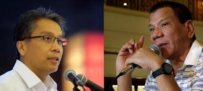 Mar Roxas (L) and Rodrigo Duterte (R)