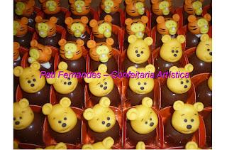 doce trufa decorada ursinho pooh puff
