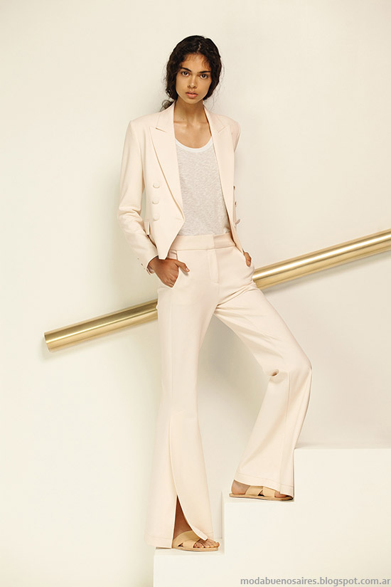 Trajes de mujer, pantalones oxford priamvera verano 2016 María Cher.