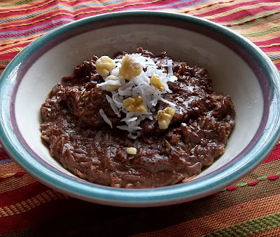 German Chocolate Oatmeal #breakfast frugalanticsrecipes.com