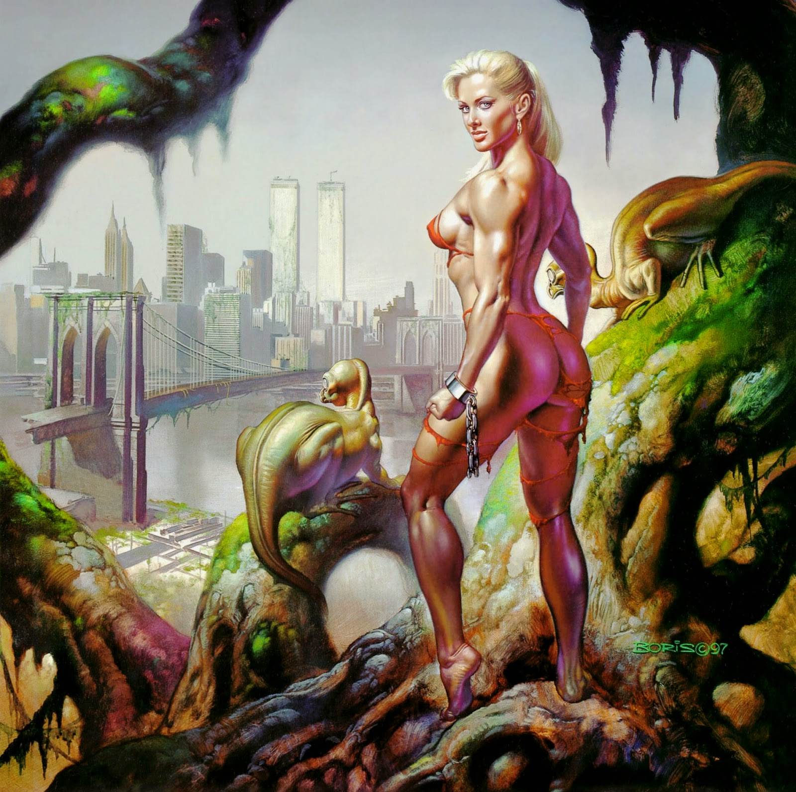 Sci fi mujer desnuda
