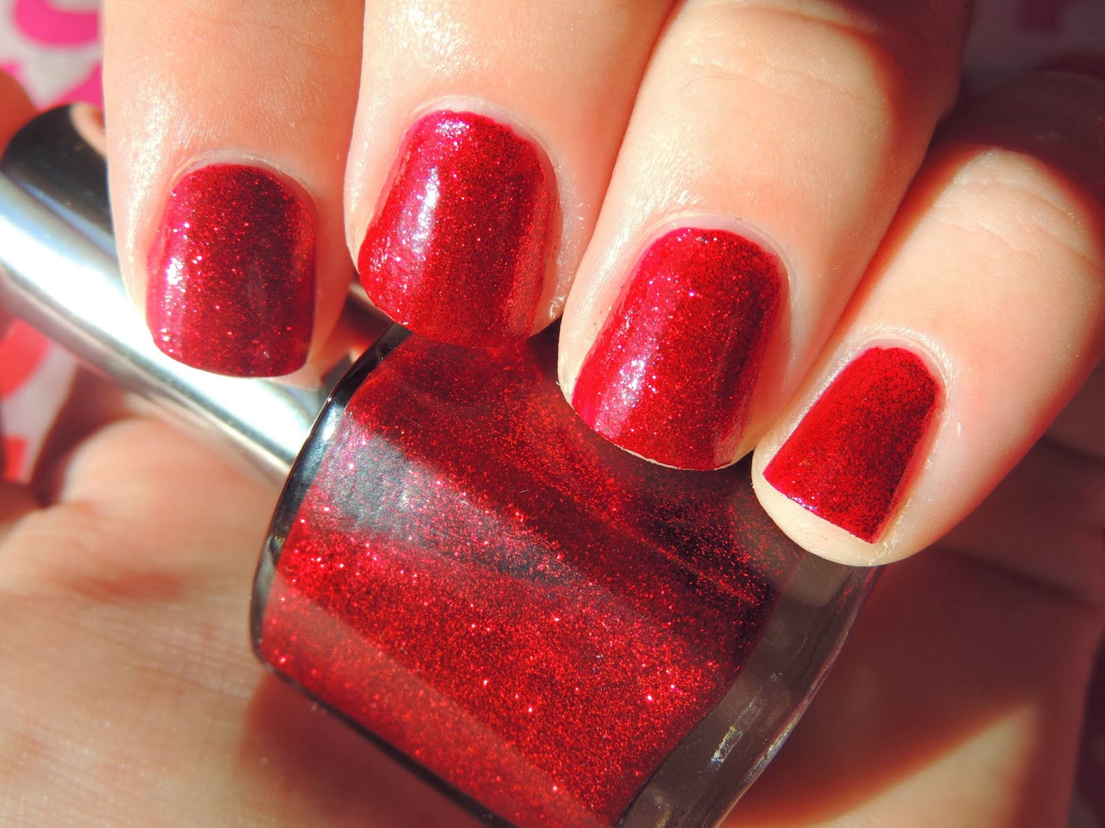 Brittany\'s Secret: Simple One Color Valentine\'s Day Nails