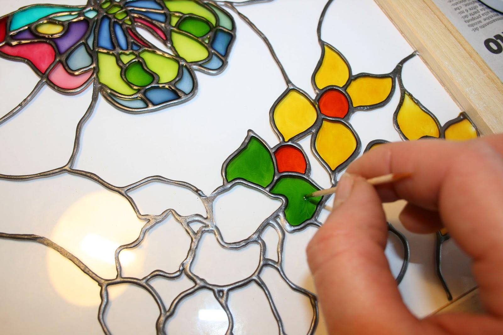Conosciuto Fatto da me tutorial: Quadro con farfalla dipinto su vetro  JQ26
