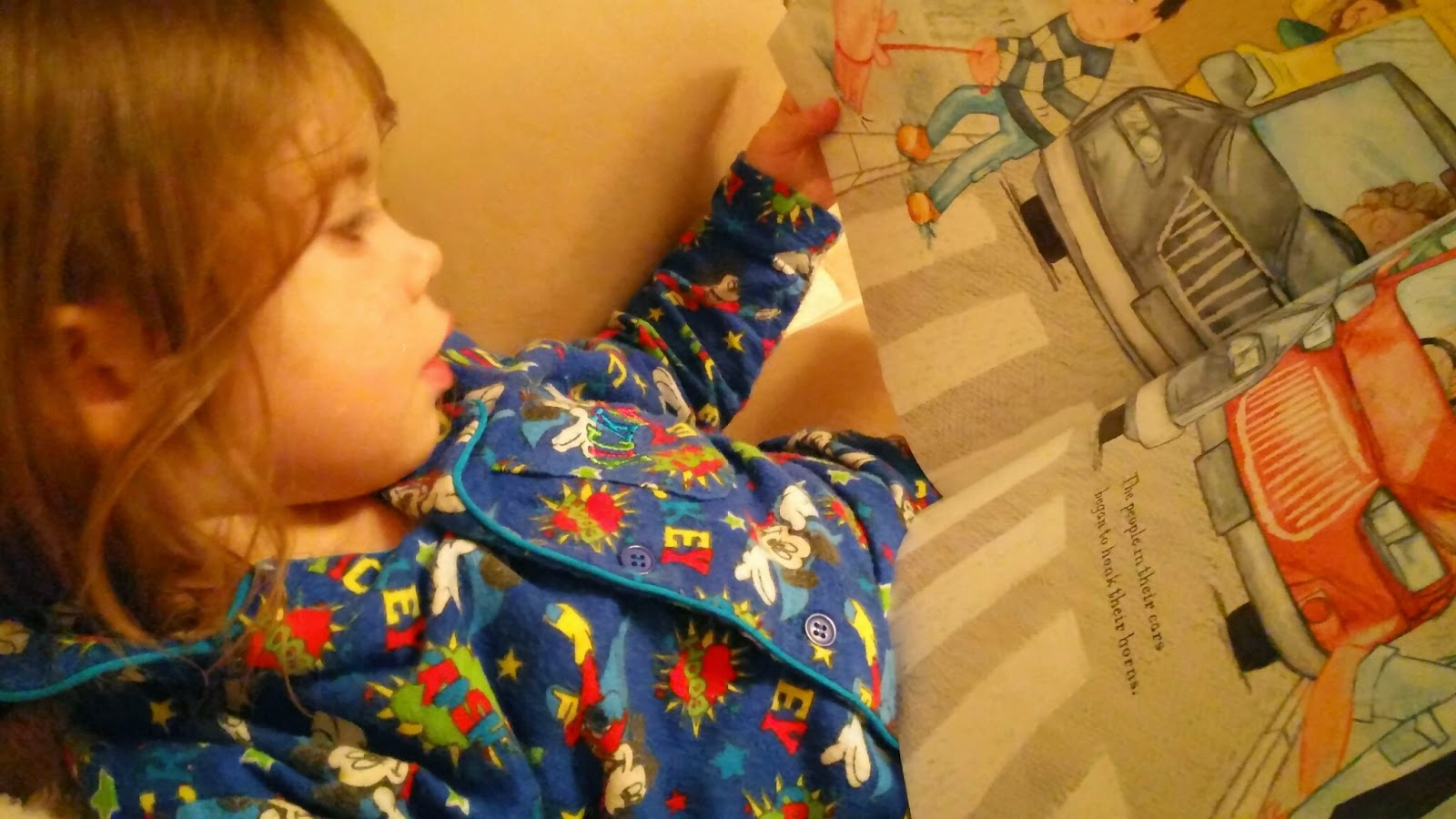 youngest reading her book