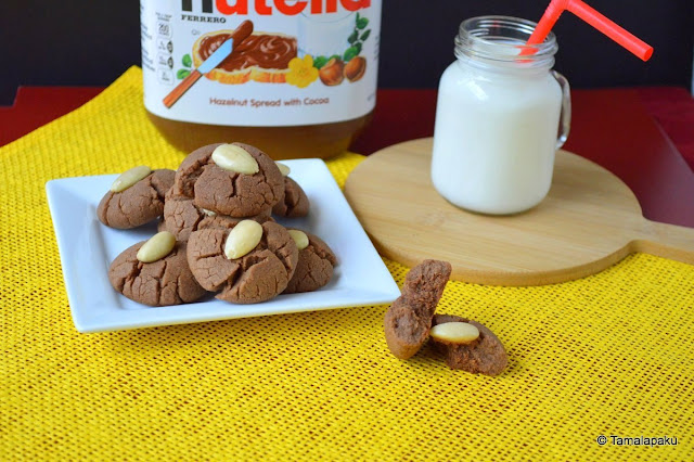 Eggless Whole Wheat Nutella Cookies