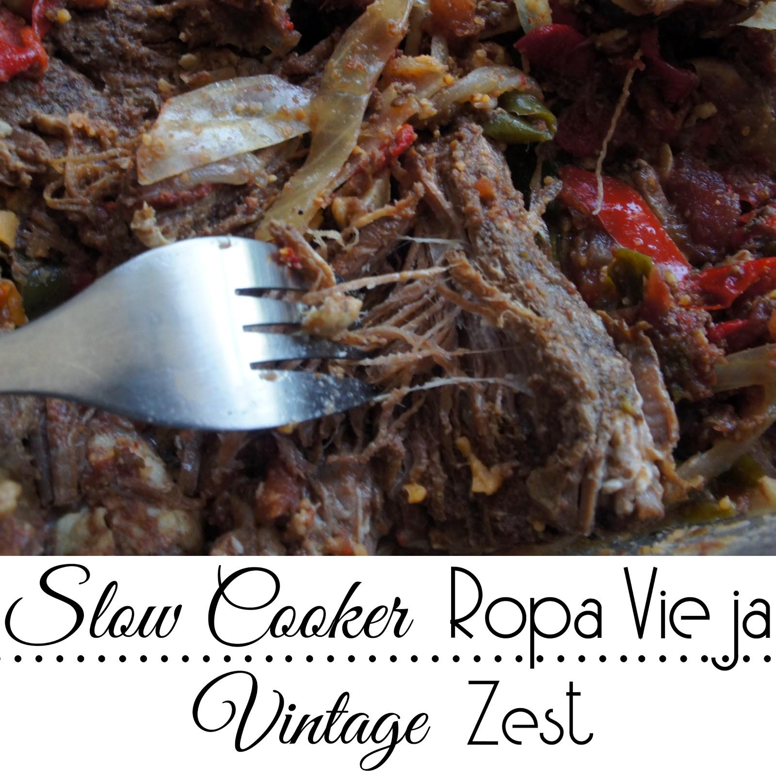Slow Cooker Ropa Vieja ~ Diane's Vintage Zest!