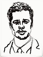 Mewarnai Gambar Brad Pitt