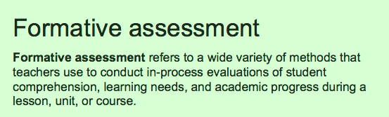 Definition of formative assessment - Light Bulbs and Laughter Blog