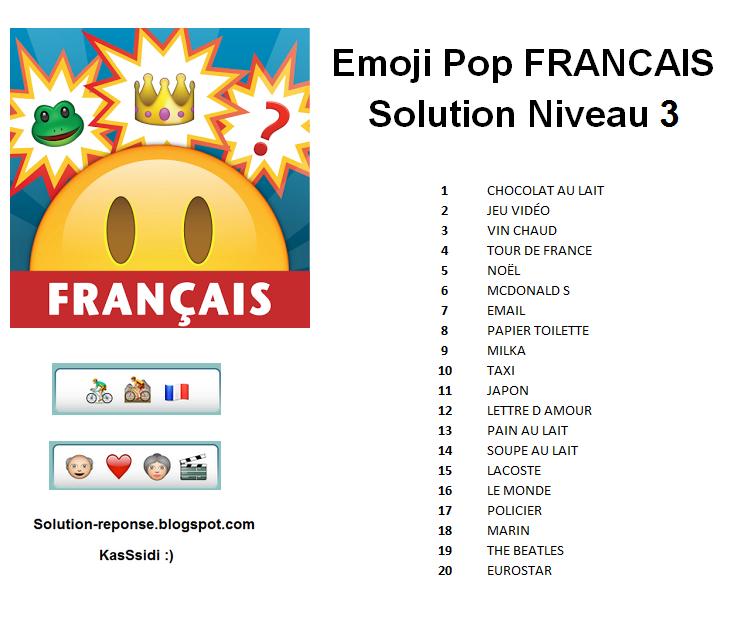 : emoji pop , emoji pop francais solution , emojipop francais ...