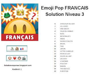 Emoji Pop Francais solution niveau 3