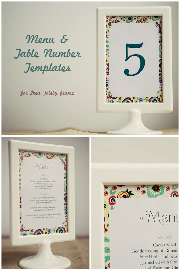 wedding menu template our wedding tales mimie adam