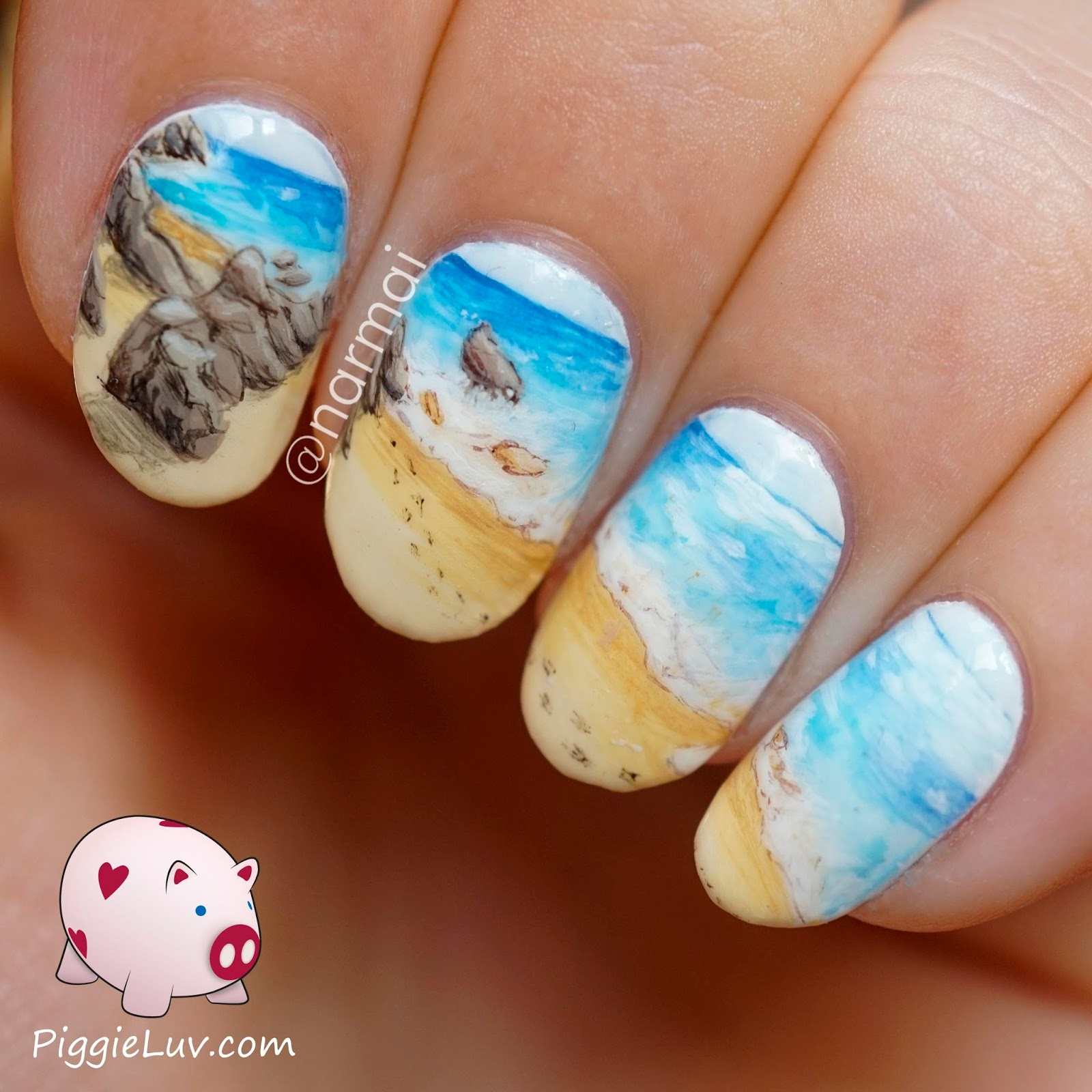 Piggieluv guest post for lucys stash beach landscape nail art beach landscape nail art prinsesfo Image collections