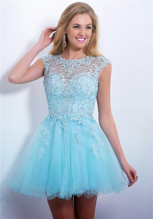 discounted cute short blue homecoming dresses 2014