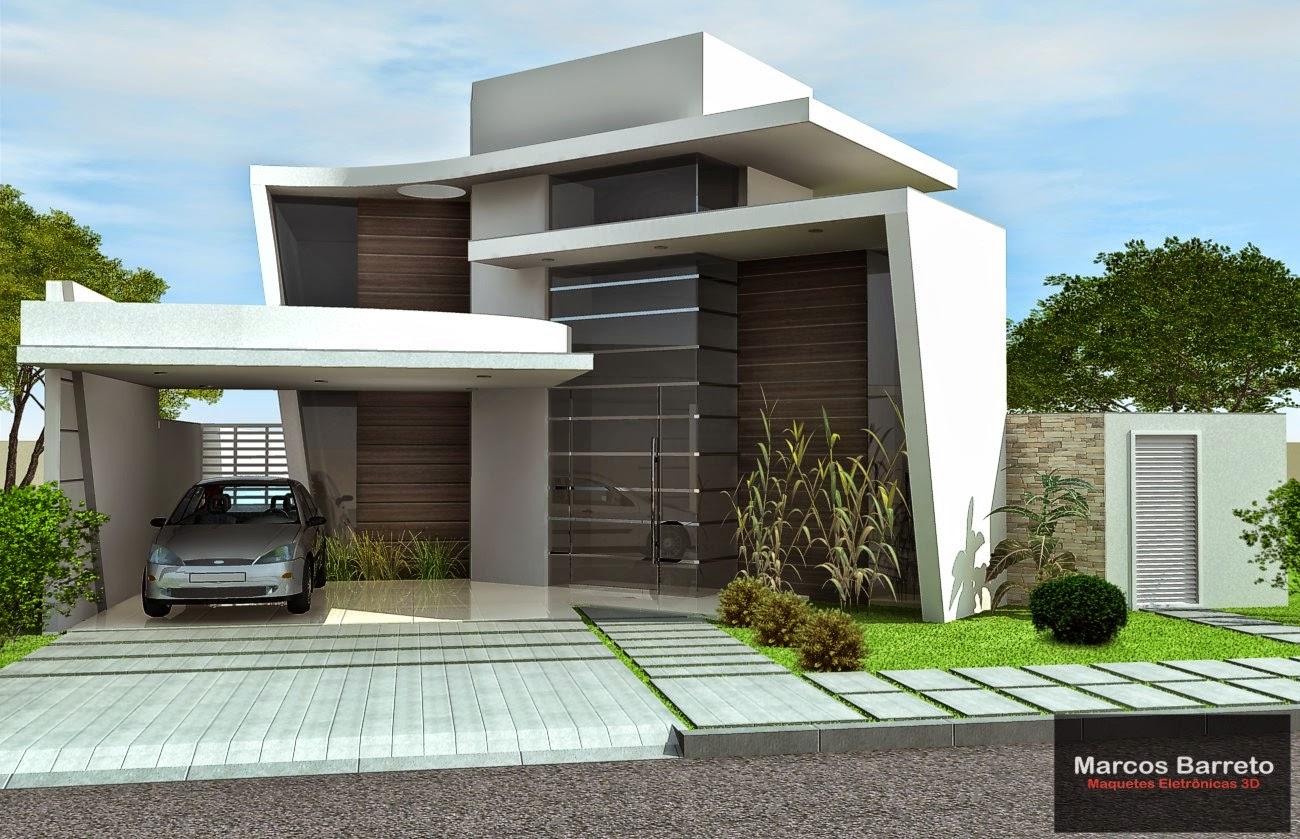 Marcos barreto maquetes eletr nicas 3d fachada for Casa moderna autocad