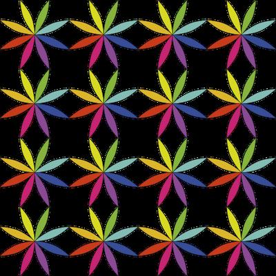 Fondo flor arco iris