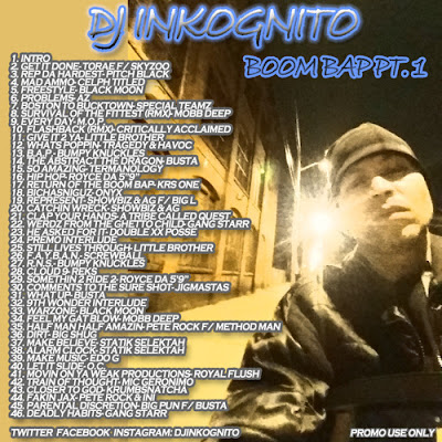 DJ Inkognito - Boom Bap Mix Pt 1 (2015)