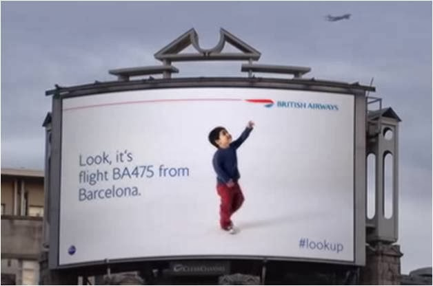 British Airways LookUp poster