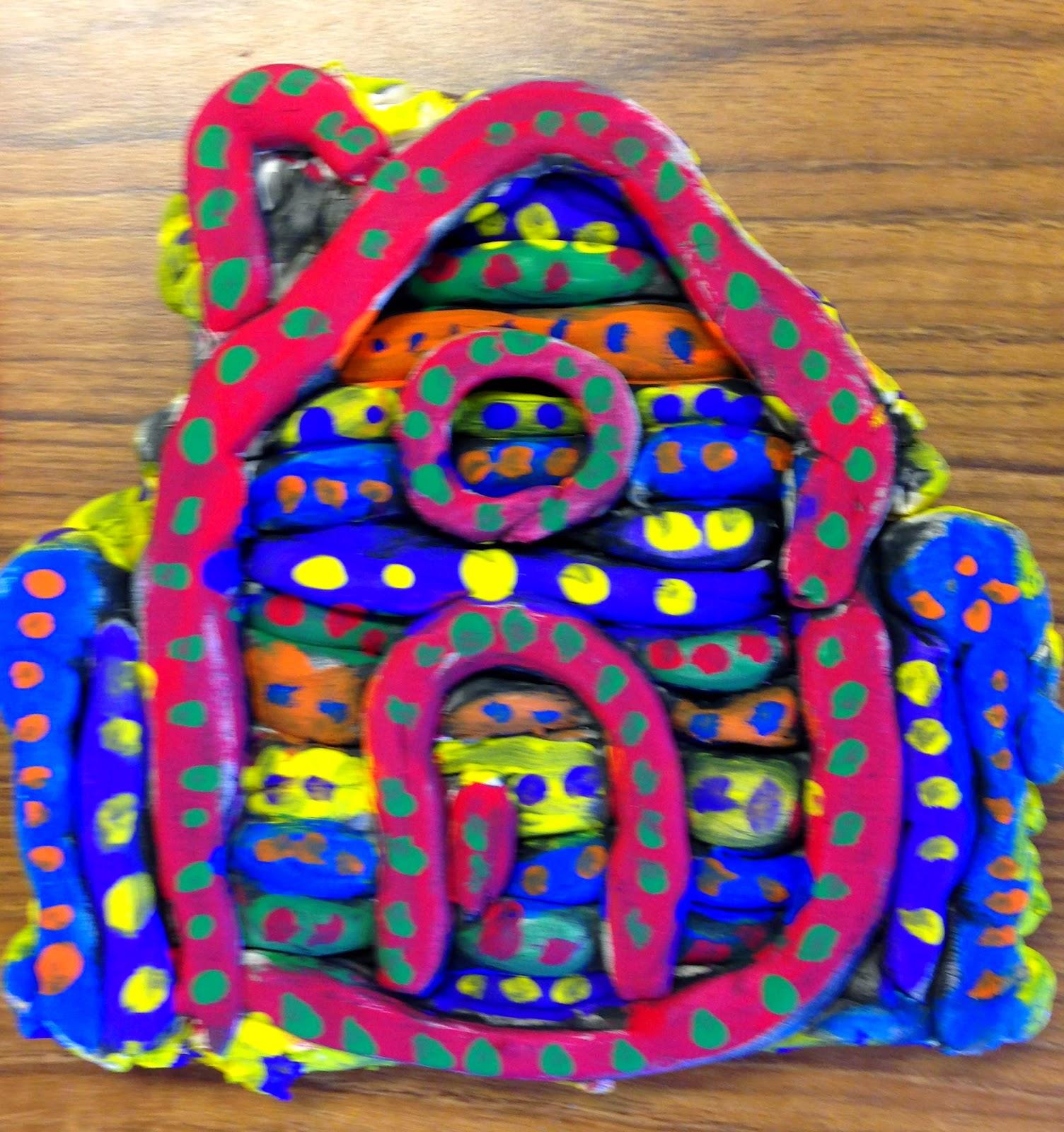 ShmoreArtRoom 4th Grade Hundertwasser Coil Clay