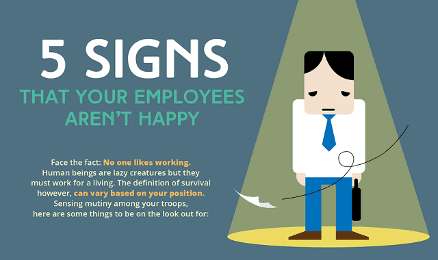 Infographic Ideas infographics definition : 5 Signs That Your Employees Are Unhappy #infographic ~ Visualistan