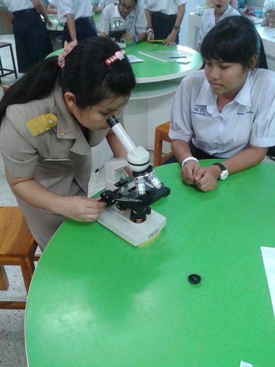 ครูมดกำลังสอนวิชาจุลินทรีย์ในเม็ดกาแฟ (ขำๆ)