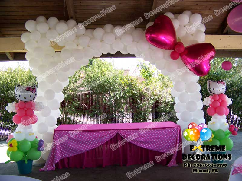 Balloon hello kitty balloon invitations pictures for Balloon cake decoration