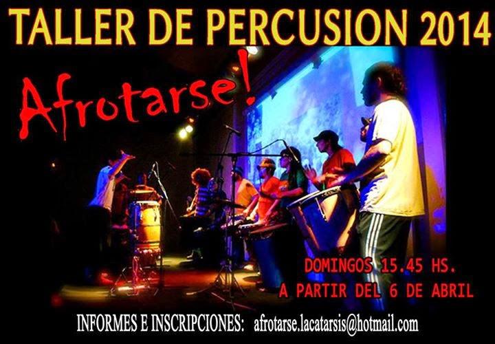 Afrotarse, percusiòn al palo