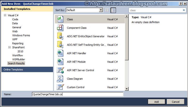 sharepoint 2010 create custom timer job