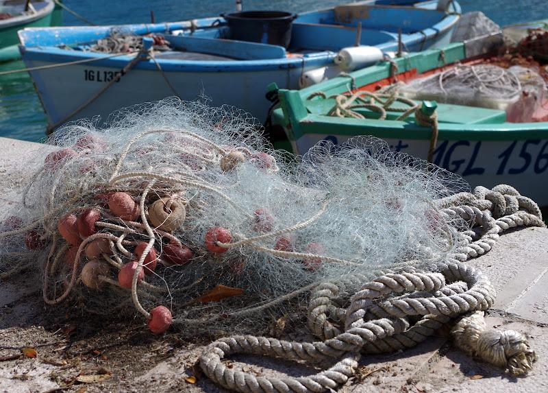 Fischernetz in Castro Marina (Apulien)