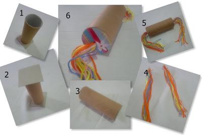 Tutup salah satu ujung rol tisu dengan kertas karton.