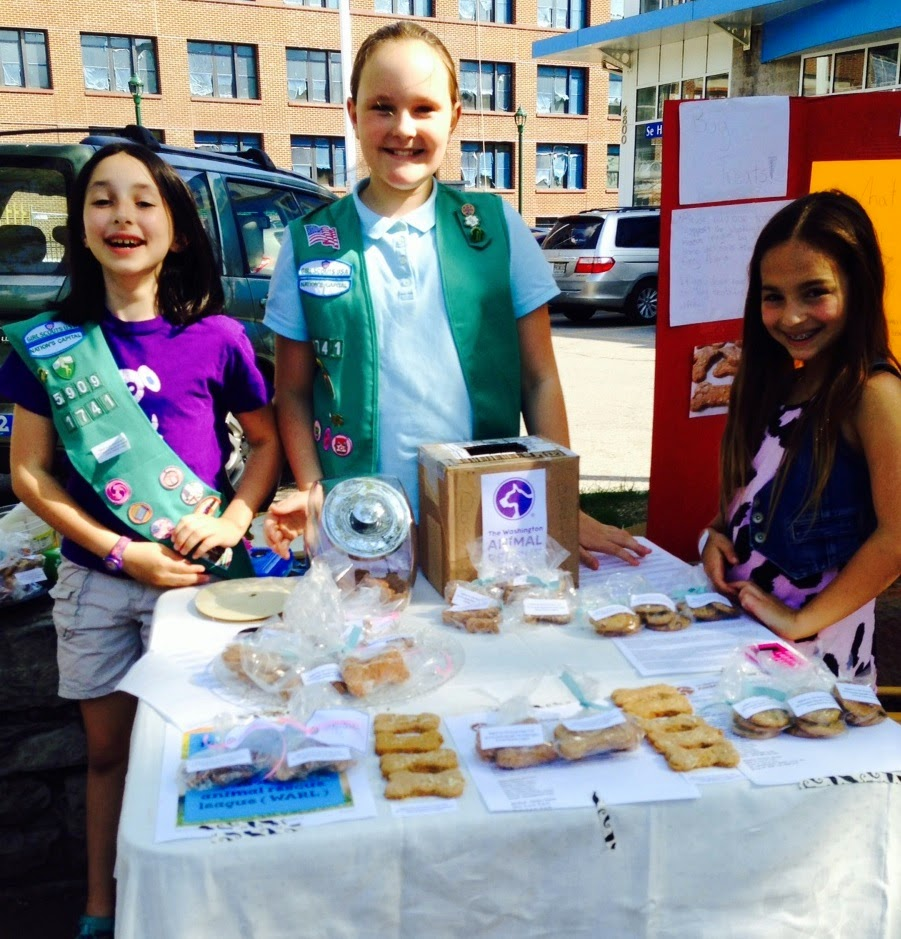 Troop 1741 Promotes WARL during a Dog Biscuit Bake Sale