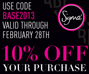 Sigma Brushes Coupon and Free Gift 2013