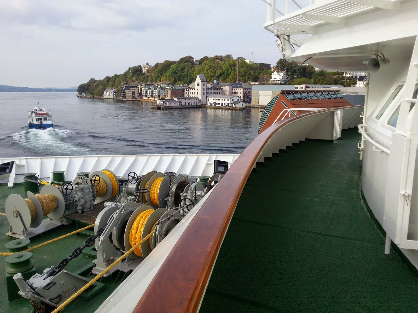 Hurtigruten MS Nordkapp - Promenade Deck and Bow