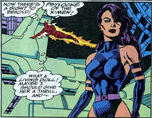 Fantastic Four 369 Human Torch Psylocke objectification