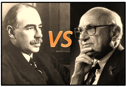 John Maynard Keynes, Milton Friedman, and F.A. Hayek Compared