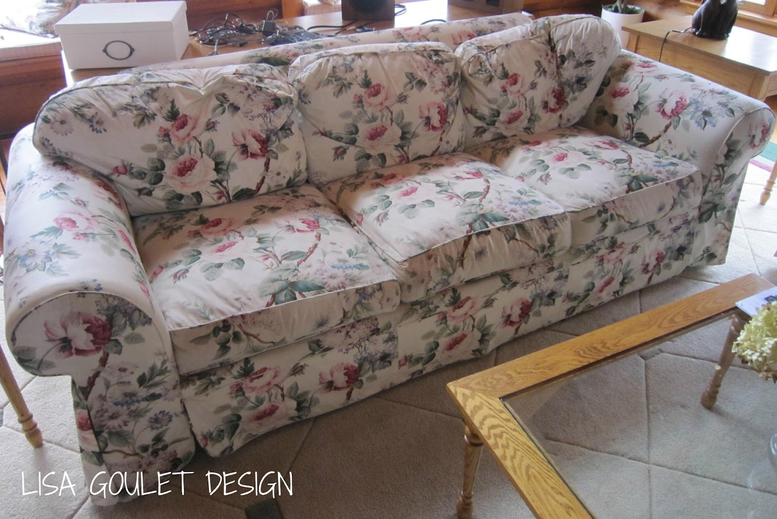 Chintz gets a make under lisa goulet design for Chintz couch