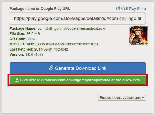 Link download akan tersedia, klik tombol berwarna hijau untuk memulai download