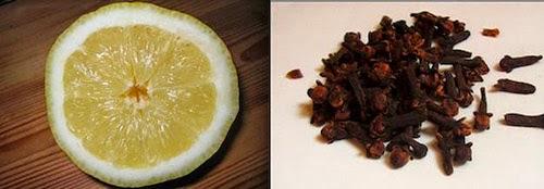 Limón con clavos de olor