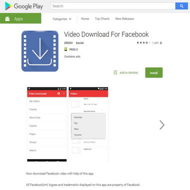 play google com - video download for facebook