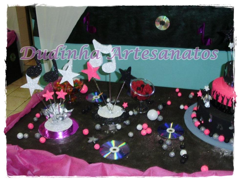 decoracao festa balada infantil:Fiz esta decoração para a Beatriz, filha da minha amiga Adriana, uma